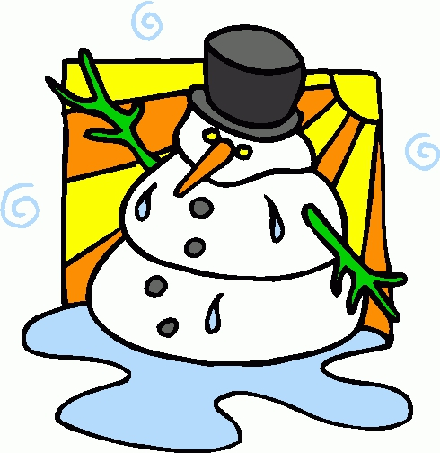 Melting Snowman Clipart#2196053.
