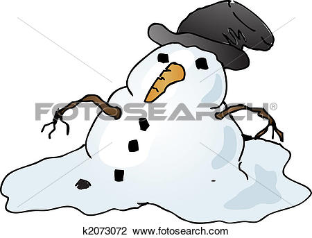 Clip Art of Melting snowman k2073072.