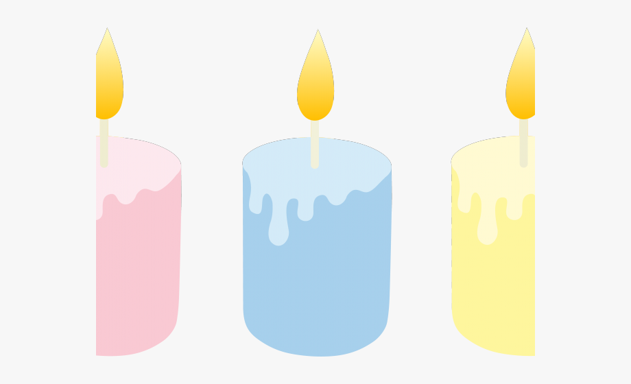 Melting Candle Clipart Colorful Candle.