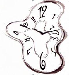 Melting Clock Clipart.