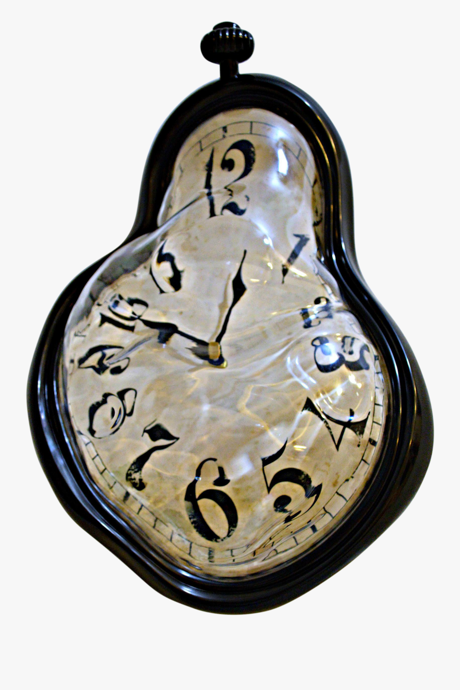 Transparent Melting Clock Clipart.
