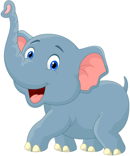 Cute Cartoon Elephants.