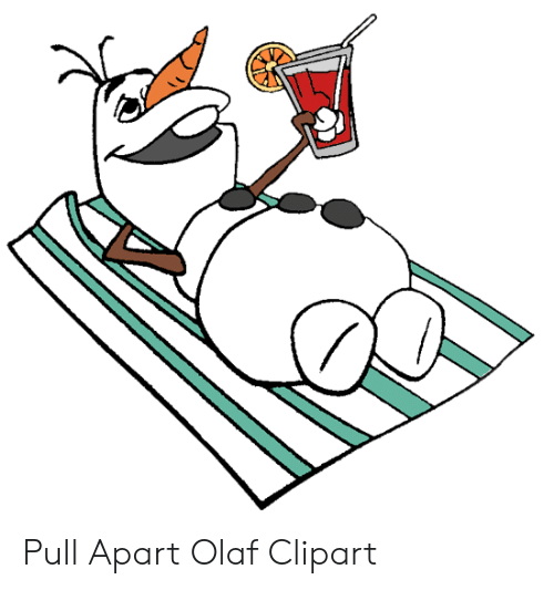 Pull Apart Olaf Clipart.