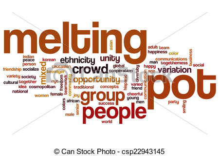 Drawing of Melting pot word cloud concept csp22943145.