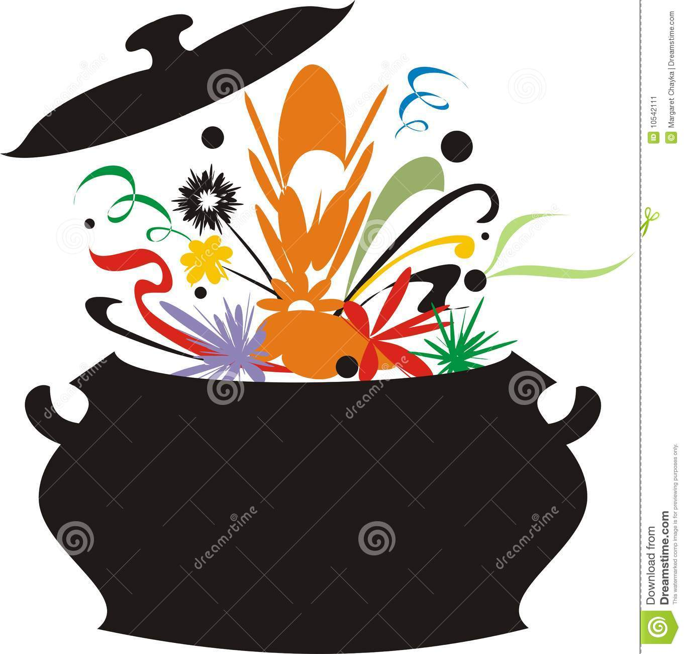 Melting Pot Clipart.