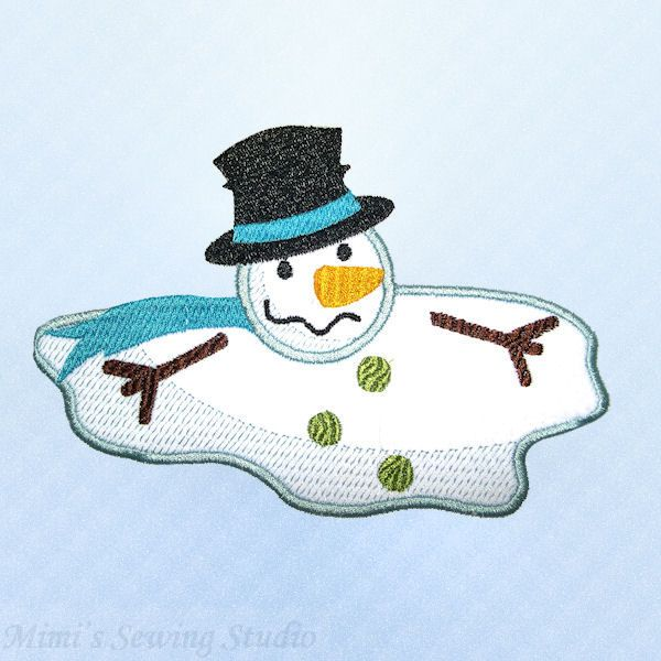 32+ Melting Snowman Clipart.