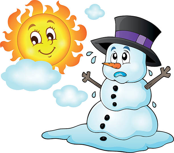 Melting Snowman Clipart Illustrations, Royalty.