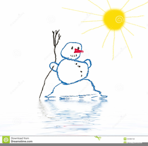 Melting Snowman Clipart Free.