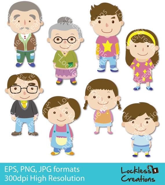 Clip art family members.
