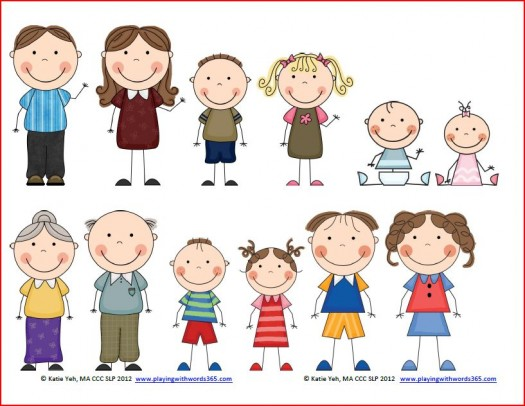 Clipart Images Of Family Members.