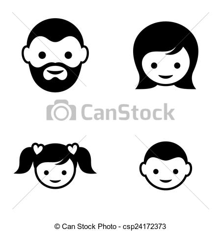 Black family Clip Art Vector Graphics. 14,551 Black family EPS.
