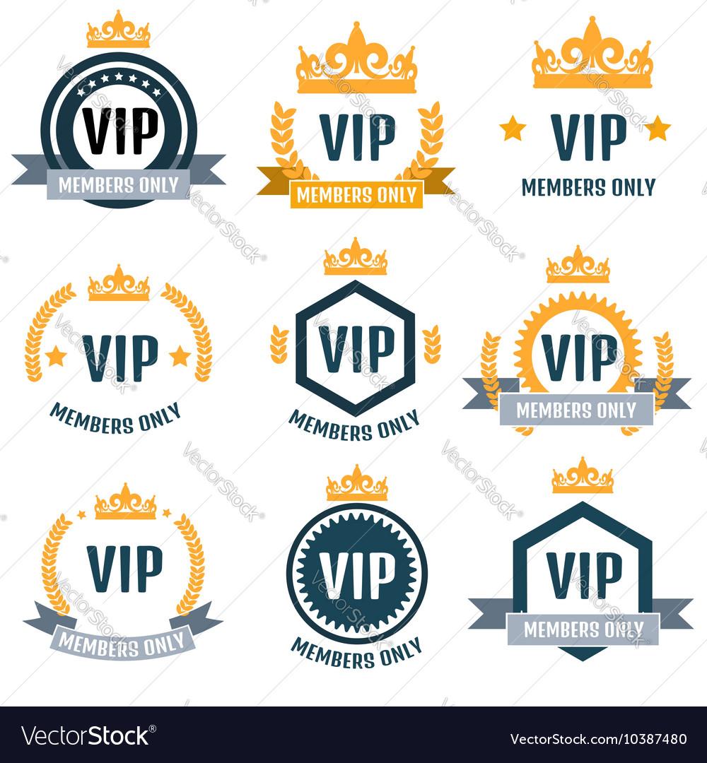 VIP Club members only logo set.