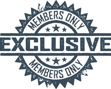 Members only Logos.