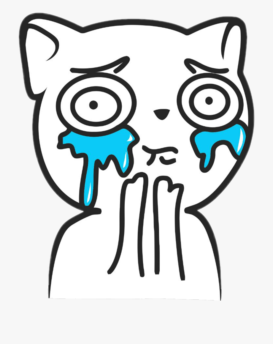 Meme Cute Crying Face Clipart , Png Download.