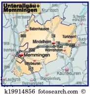 Map lower allgaeu memmingen Clipart Vector Graphics. 10 map lower.
