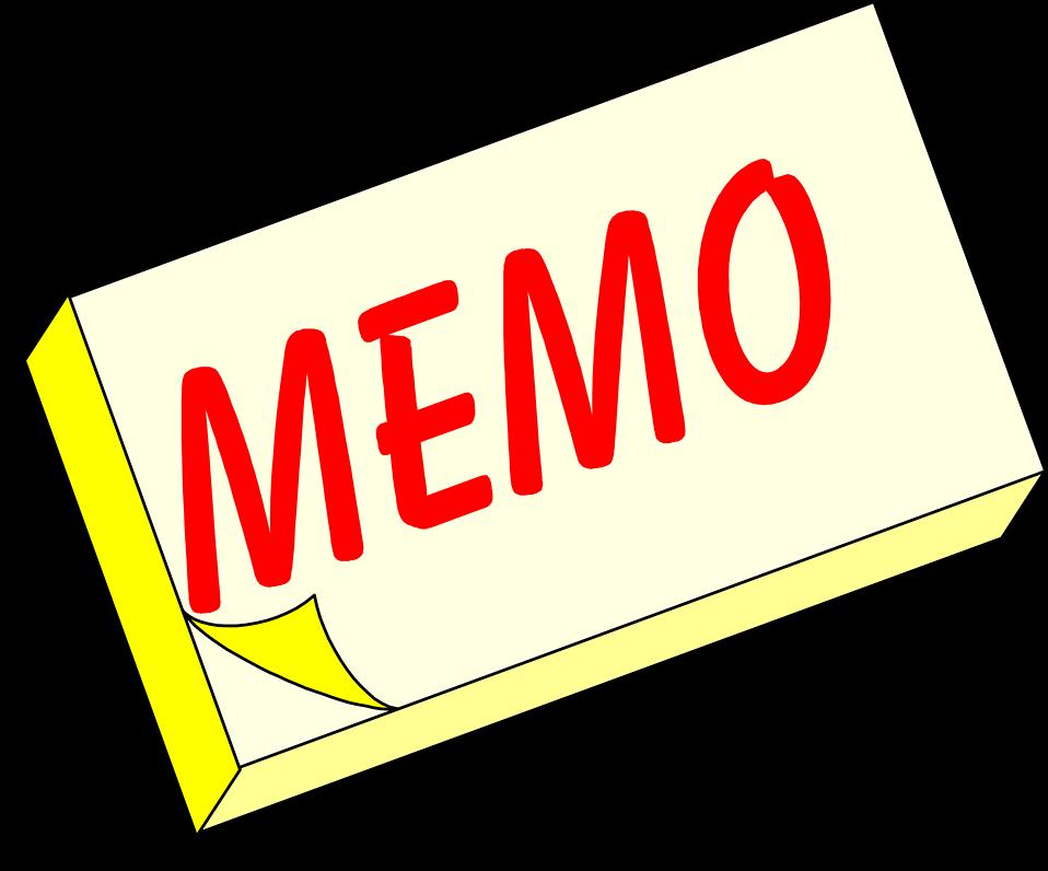 Memo Clipart.