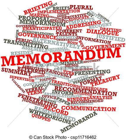 Stock Illustration of Memorandum.