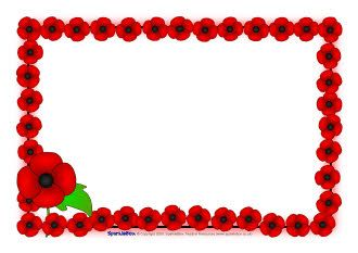 Remembrance Day poppy A4 page borders (SB1778).