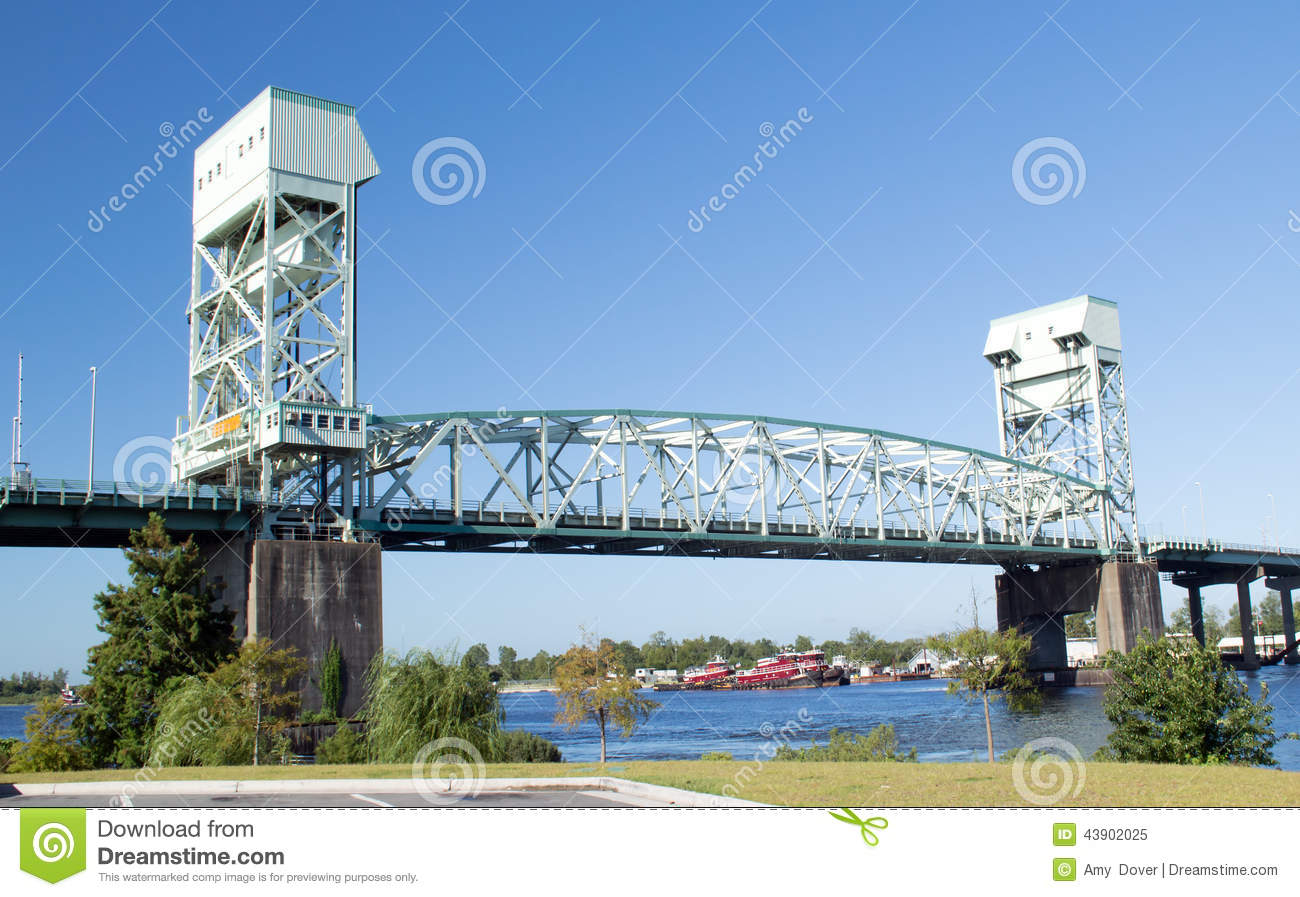 Cape Fear Memorial Bridge Royalty Free Stock Photo.