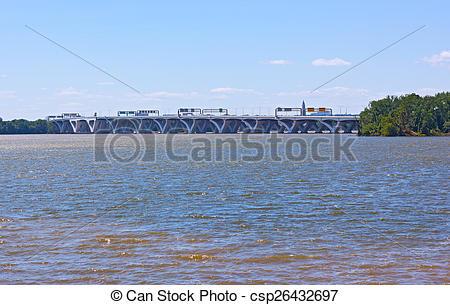 Stock Photographs of Woodrow Wilson Memorial Bridge photographed.