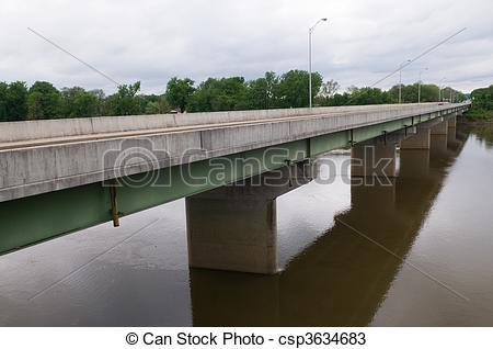 Stock Photos of Theodore Dreiser Memorial Bridge over the Wabash.