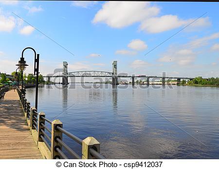 Picture of Memorial Bridge Wilmington, NC.