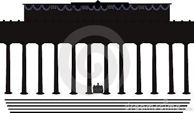N Lincoln Memorial In Washington Building.
