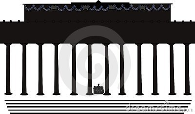 Lincoln Memorial Building Clipart.
