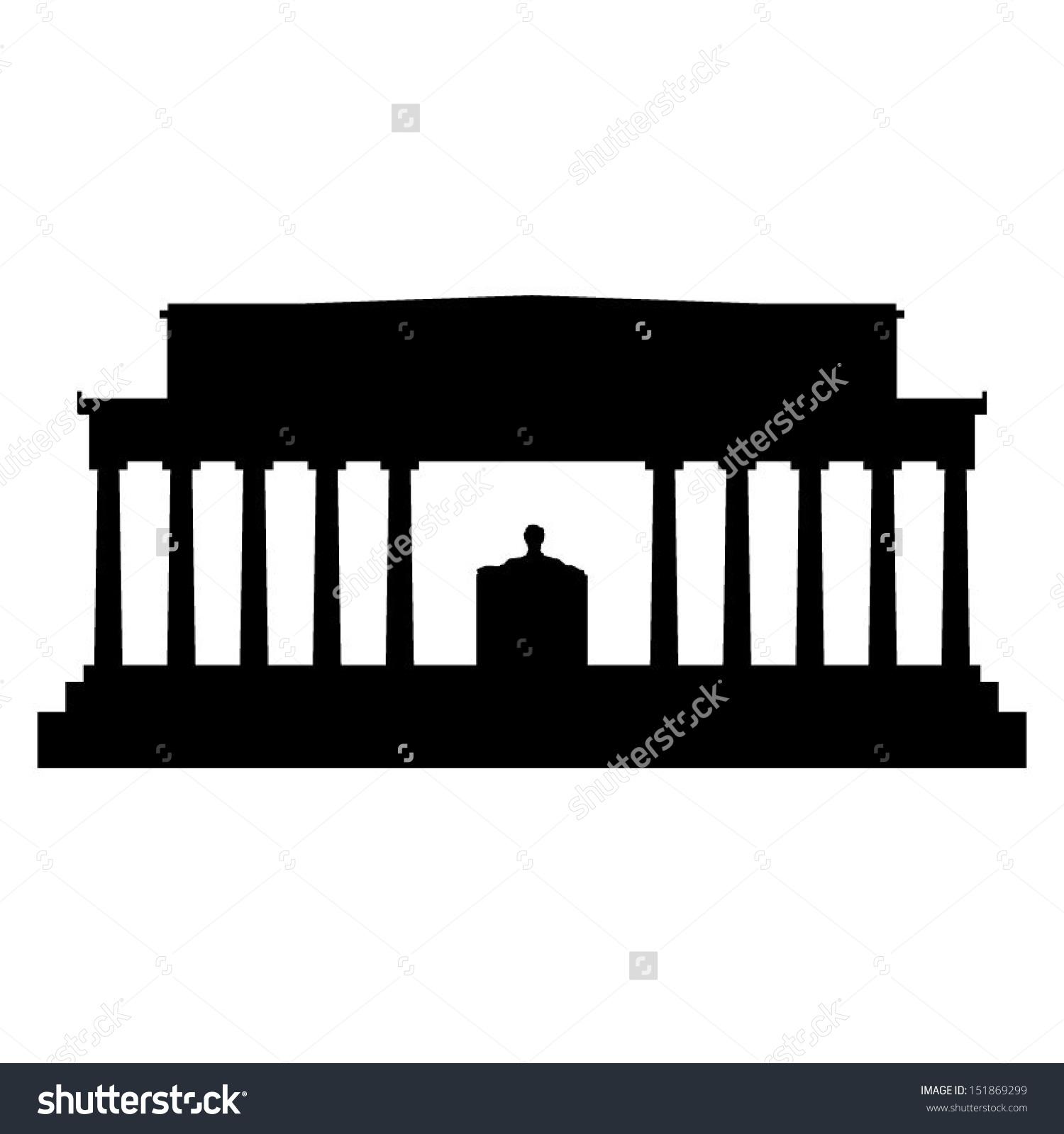 Lincoln memorial building clipart.