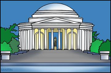 C Lincoln Memorial Building Clipart.