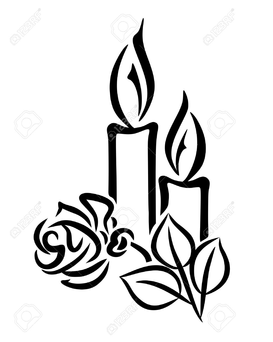 2645 Candles free clipart.