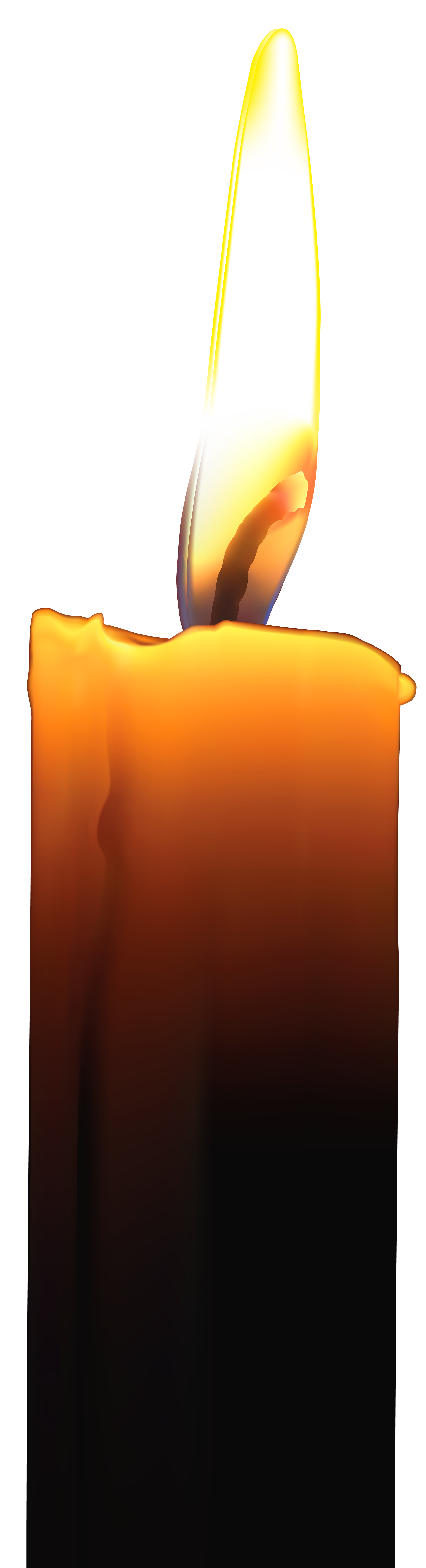 Memorial Candle PNG Clip Art Image.