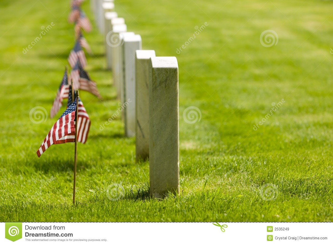 Military Memorial Cemetery Royalty Free Stock Images.