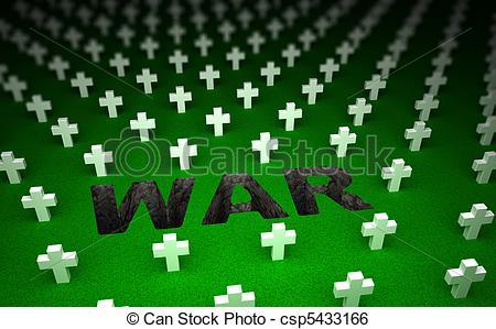 Stock Illustration of War cemetery memorial. 3D concept csp5433166.