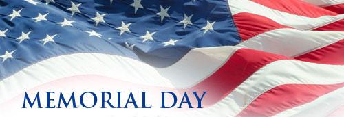 Memorial Day Banner Clipart.