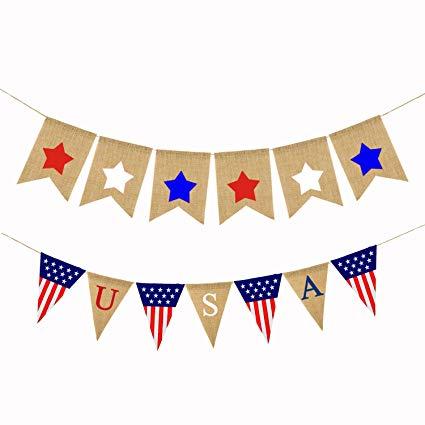 Amazon.com: LOLOAJOY USA Flags Pennant Triangular Flag.