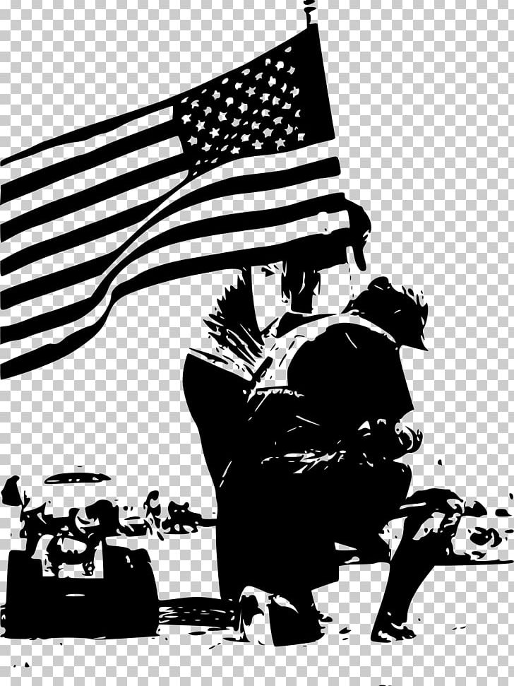 Memorial Day Black And White Veterans Day Poster PNG.