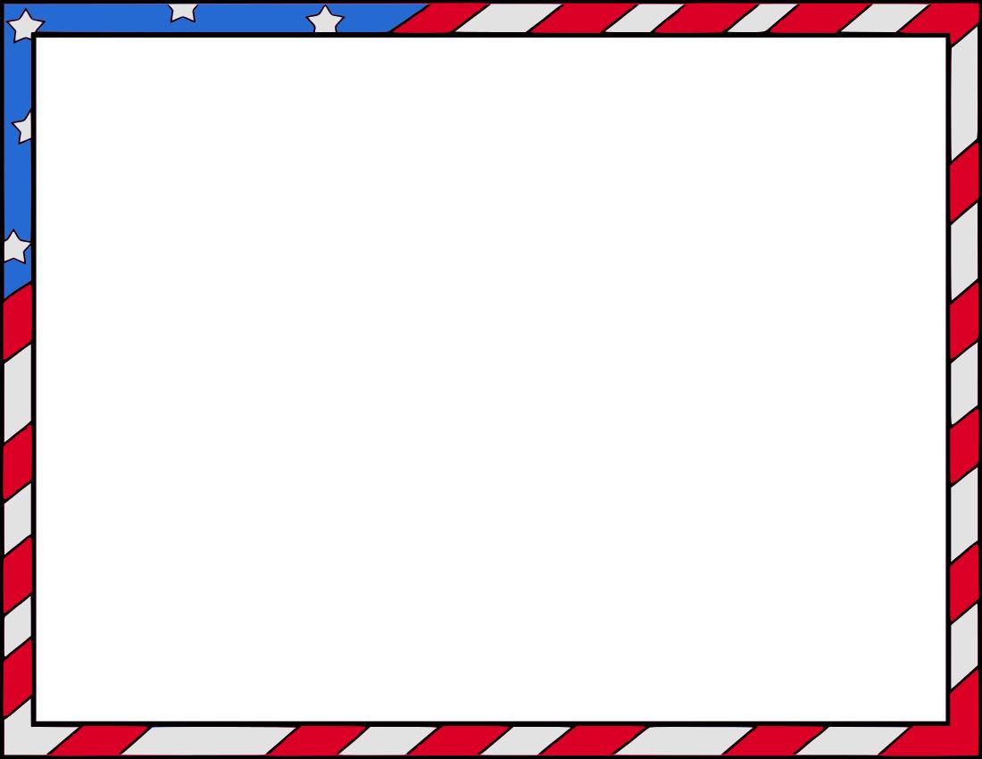 Usa Borders Clipart.