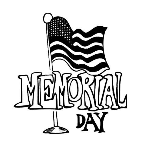 Memorial Day Colouring Pages Black And White.