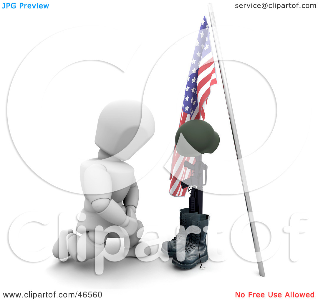 Memorial day headstone clipart.
