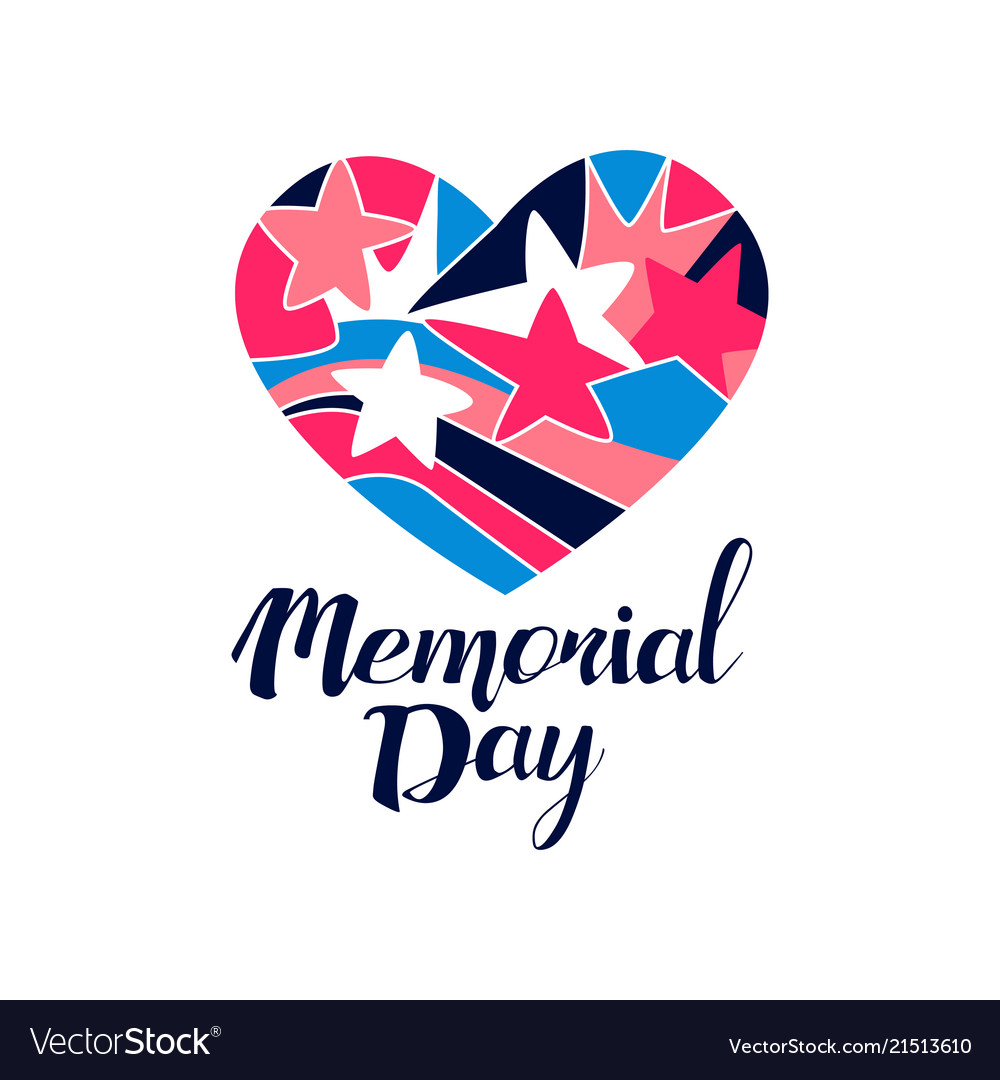 Memorial day logo creative template for greeting.