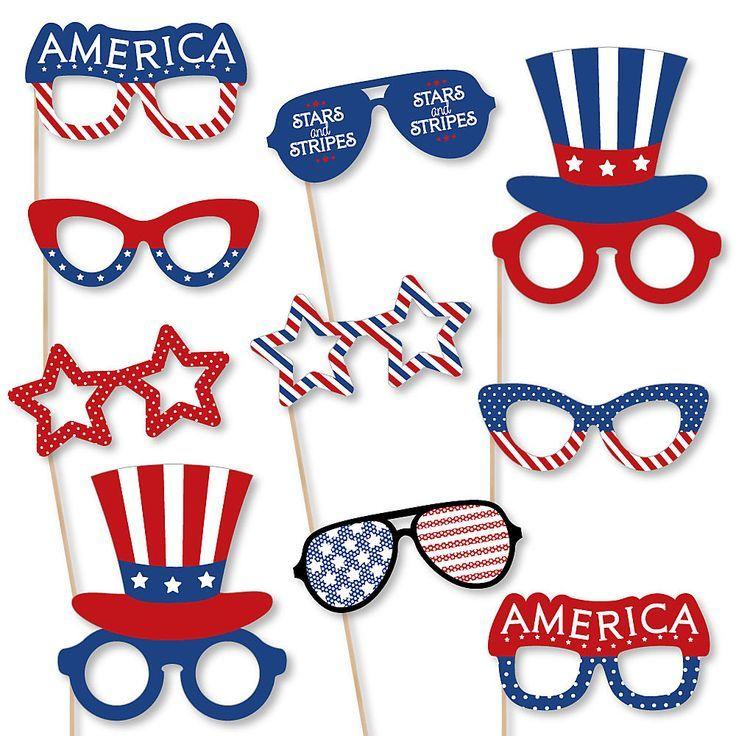 Patriotic Glasses.