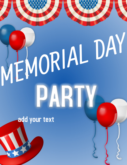 MEMORIAL DAY PARTY EVENT Template.