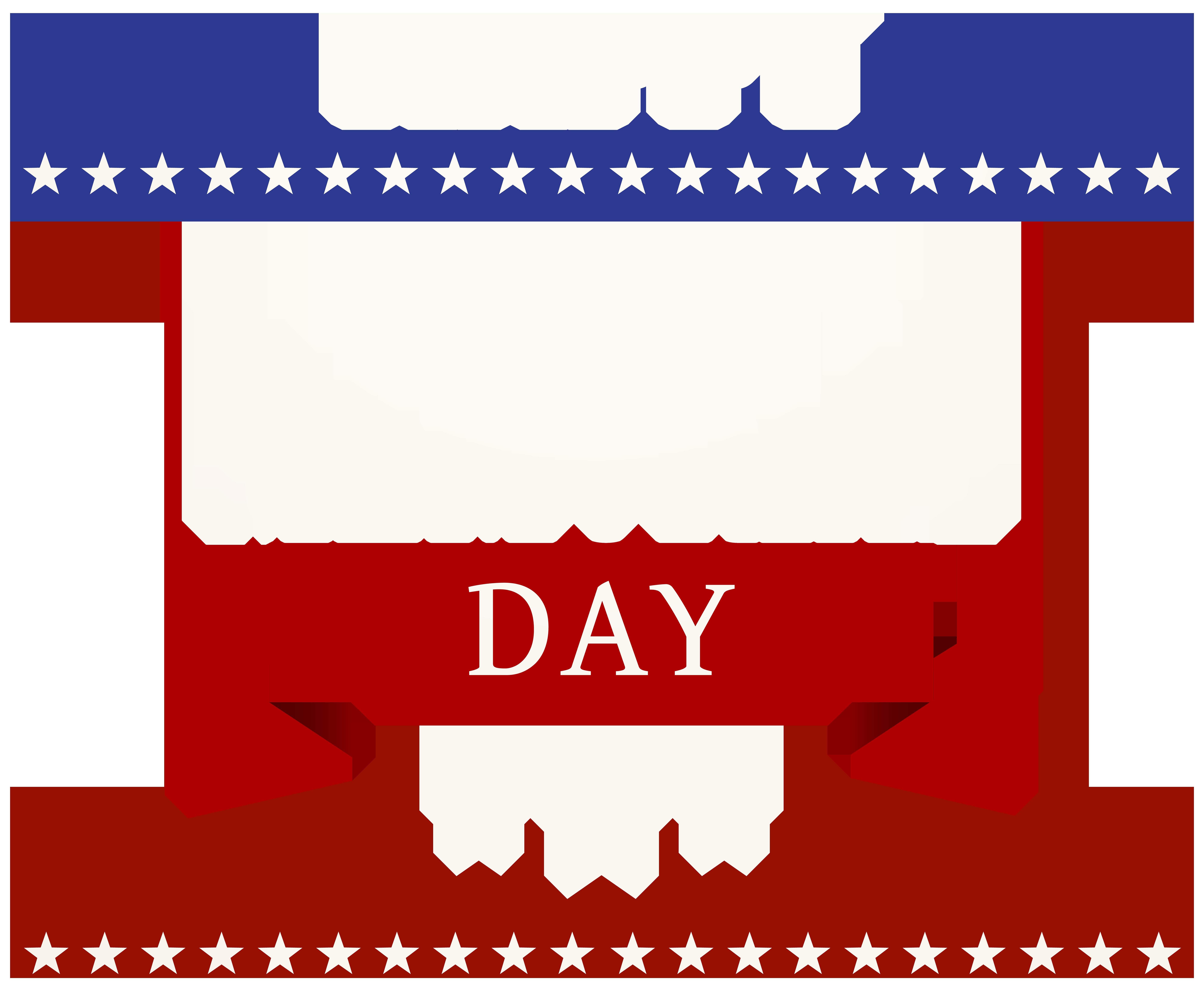 Happy Memorial Day Transparent PNG Clip Art Image.