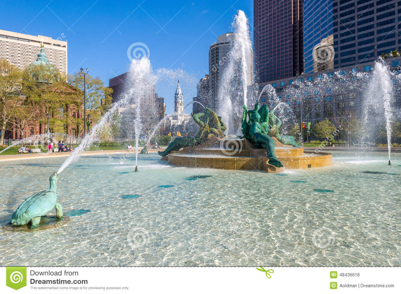 Swann Memorial Fountain, Philadelphia Stock Photo.