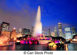Stock Photography of Clarence Buckingham Memorial Fountain in.