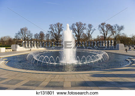 Stock Photography of World War Ii Memorial Fountain kr131801.