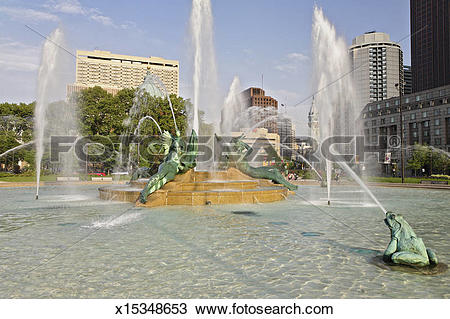 Stock Photo of Swann Memorial Fountain, Logan Square x15348653.