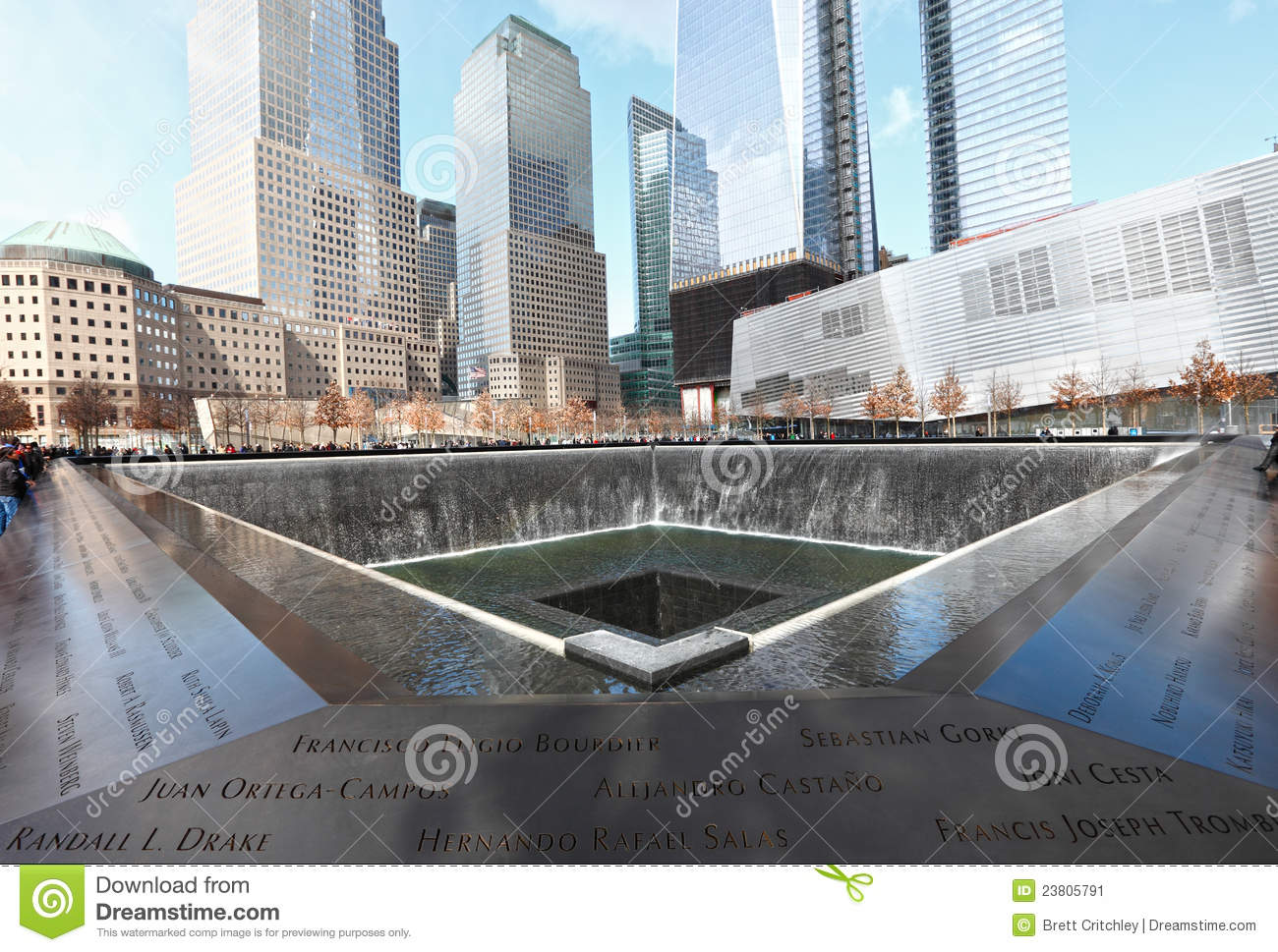 Memorial Fountain New York Editorial Photo.