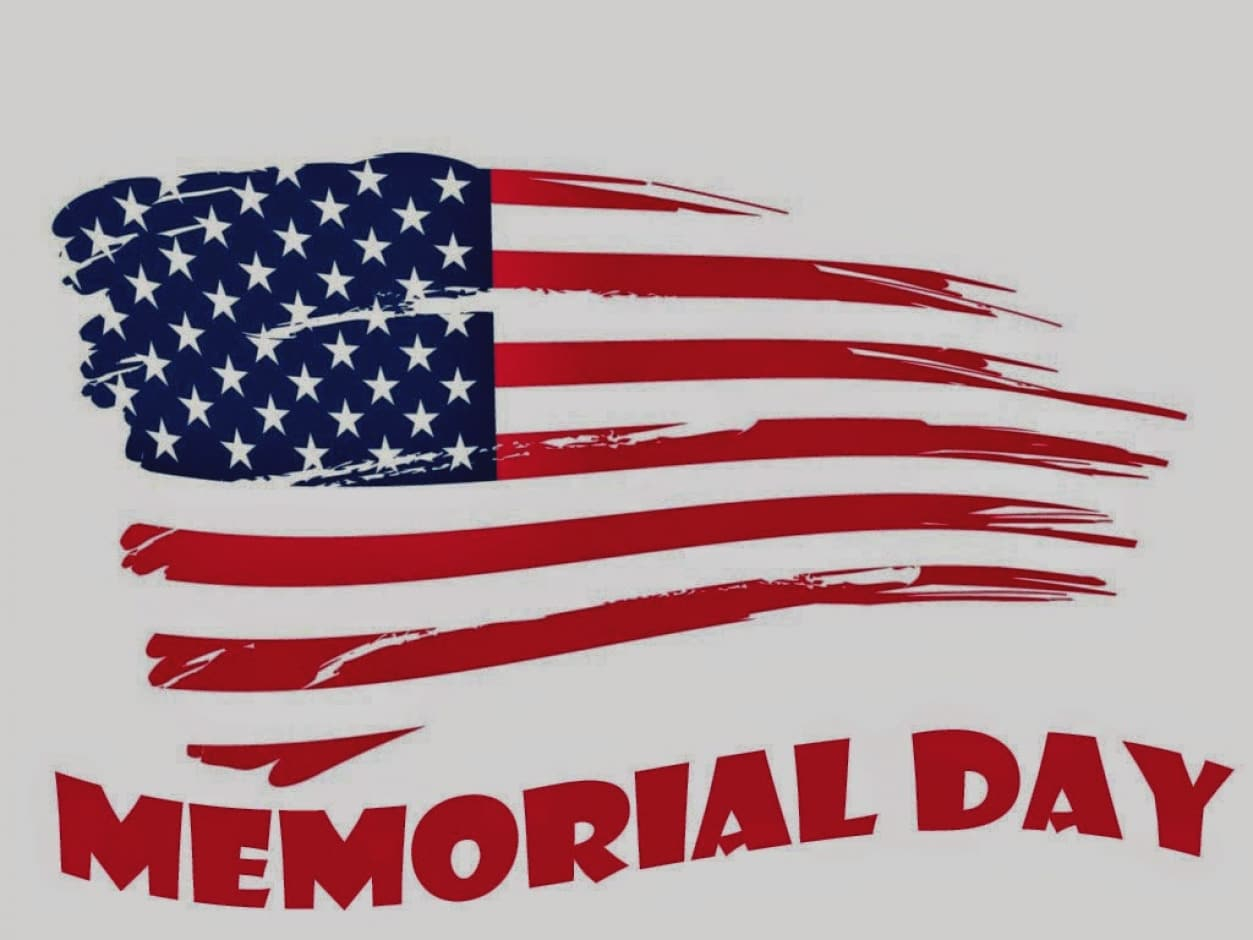 Memorial Day Holiday Clipart.